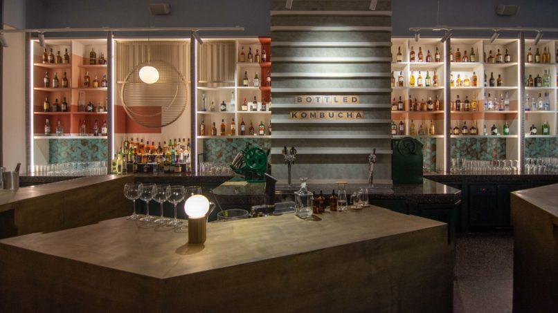 The bar at Comorin restaurant, Gurugram