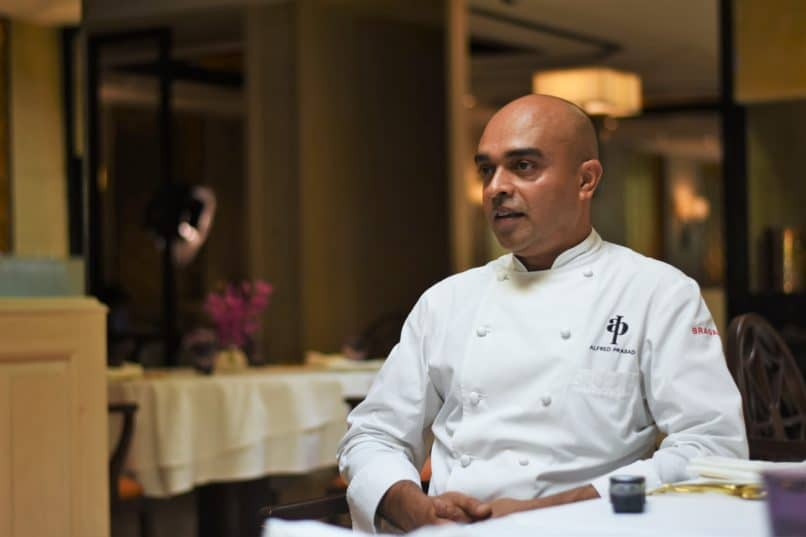 Chef Alfred Prasad at Omya, The Oberoi Delhi