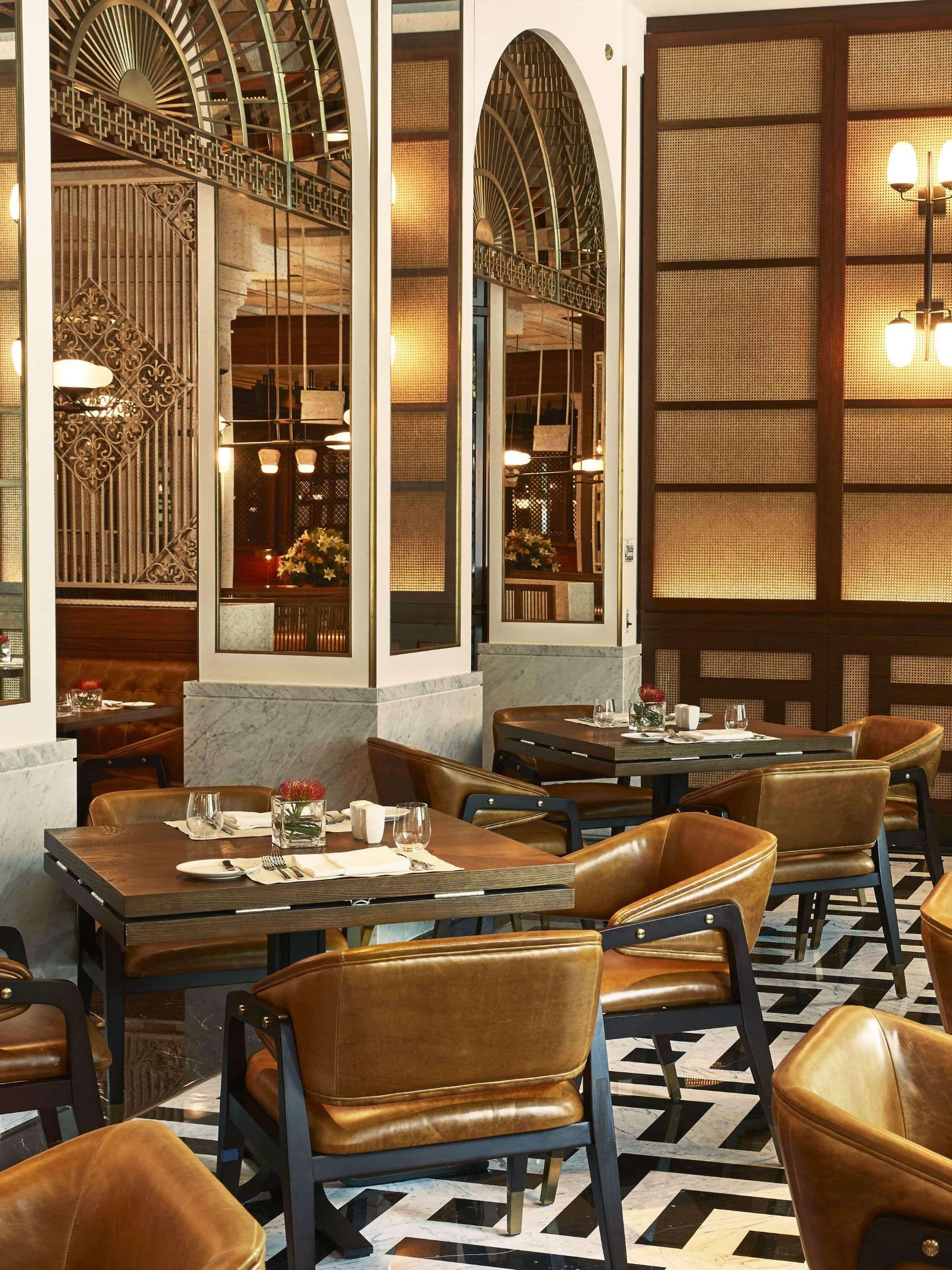 Restaurant interiors by the late designer Jaya Ibrahim.