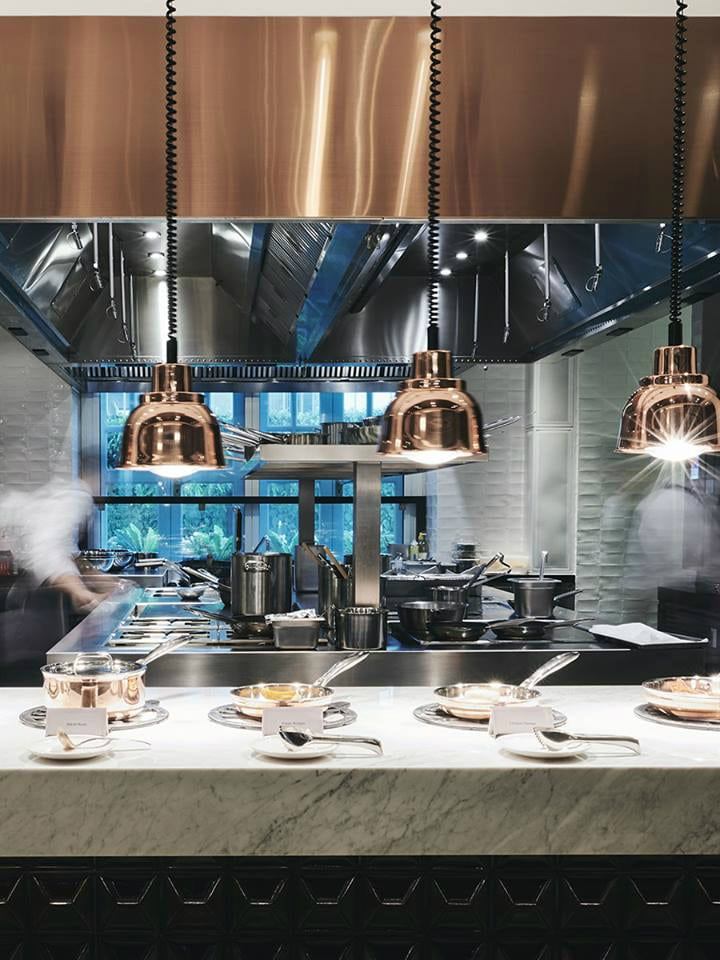 The open kitchen at 15 Stamford.