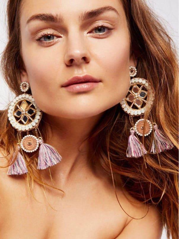 Deepa Gurnani's tasseled earrings