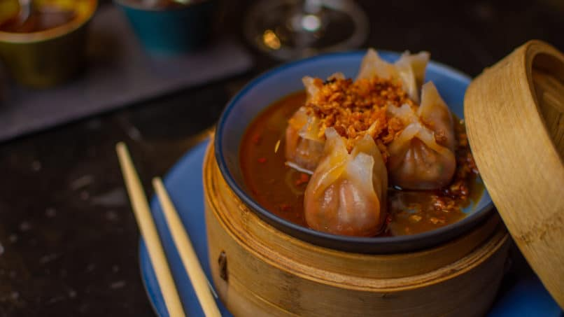 Chicken Dimsums at MKT, The Chanakya, New Delhi