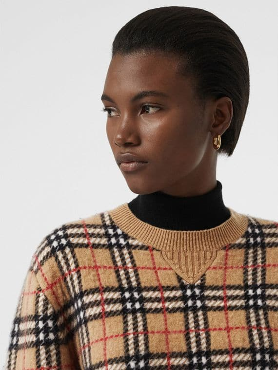 Classic Burberry check sweater