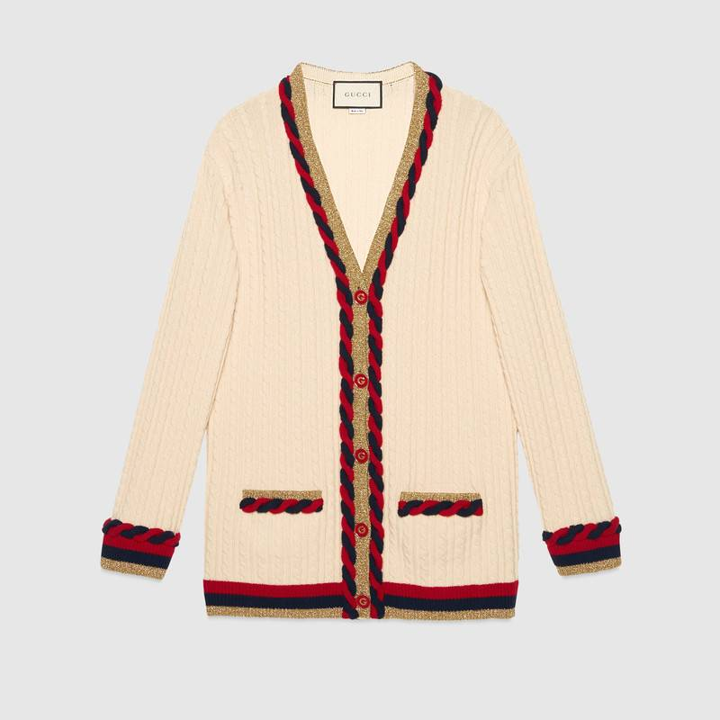 Gucci's V-neck cashmere cardigan