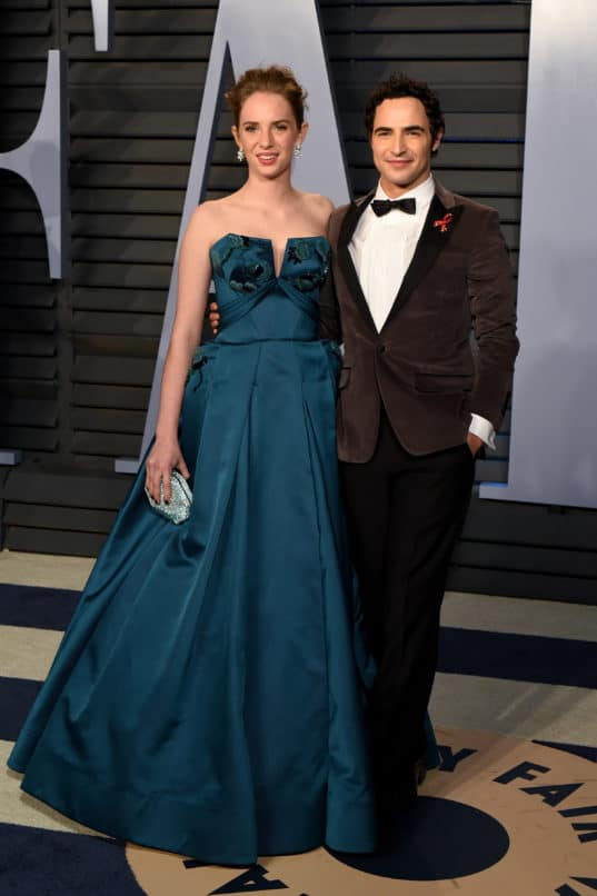 Maya Hawke and Zac Posen attend the 2018 Vanity Fair Oscar Party Image:Courtesy Presley Ann/Patrick McMullan via Getty Images