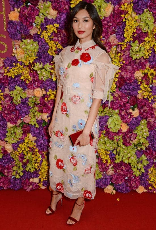 """LONDON, ENGLAND - SEPTEMBER 04: Gemma Chan attends a special screening of """"Crazy Rich Asians"""" at The Ham Yard Hotel on September 4, 2018 in London, England. (Photo by David M. Benett/Dave Benett/Getty Images )"""
