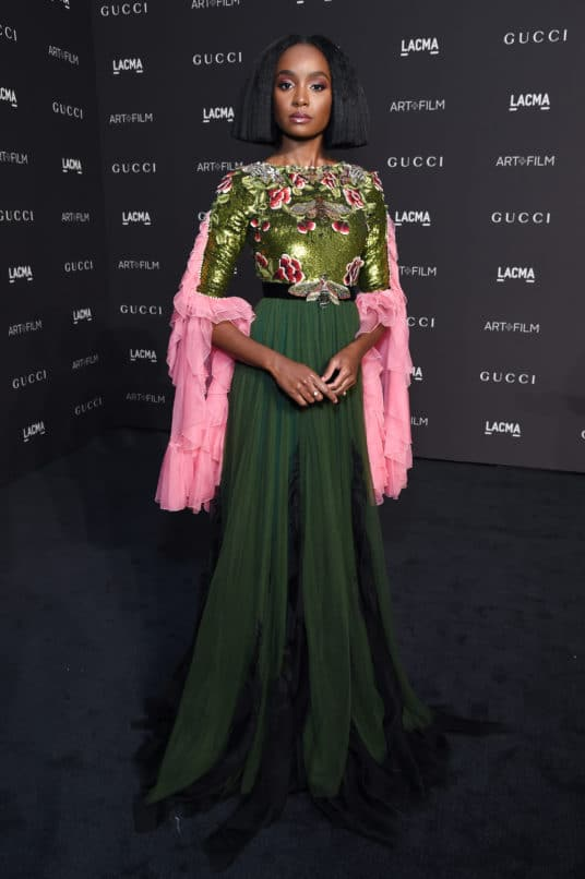 LOS ANGELES, CA - NOVEMBER 03: Kiki Layne, wearing Gucci, attends 2018 LACMA Art + Film Gala honoring Catherine Opie and Guillermo del Toro presented by Gucci at LACMA on November 3, 2018 in Los Angeles, California. (Photo by Michael Kovac/Getty Images for LACMA)