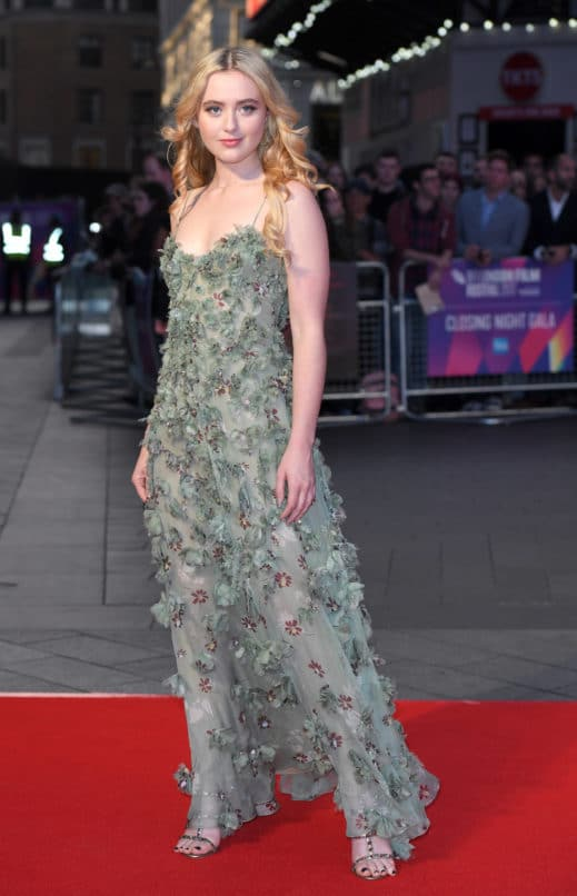 """LONDON, ENGLAND - OCTOBER 15: Kathryn Newton attends the UK Premiere of """"Three Billboards Outside Ebbing, Missouri"""" during the closing night gala of the 61st BFI London Film Festival at the Odeon Leicester Square on October 15, 2017 in London, England. (Photo by Karwai Tang/WireImage)"""