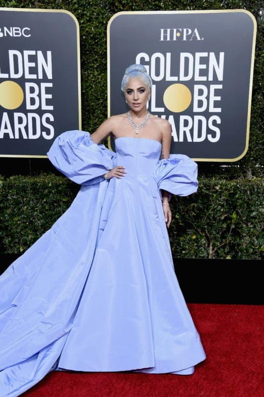 BEVERLY HILLS, CA - JANUARY 06: 76th ANNUAL GOLDEN GLOBE AWARDS -- Pictured: Lady Gaga arrives to the 76th Annual Golden Globe Awards held at the Beverly Hilton Hotel on January 6, 2019. -- (Photo by Kevork Djansezian/NBC/NBCU Photo Bank)