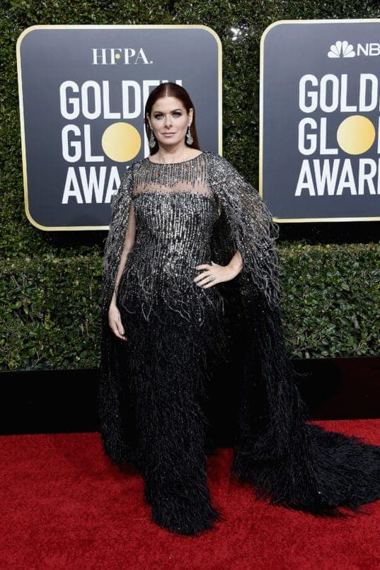 BEVERLY HILLS, CA - JANUARY 06: 76th ANNUAL GOLDEN GLOBE AWARDS -- Pictured: Debra Messing arrives to the 76th Annual Golden Globe Awards held at the Beverly Hilton Hotel on January 6, 2019. -- (Photo by Kevork Djansezian/NBC/NBCU Photo Bank)
