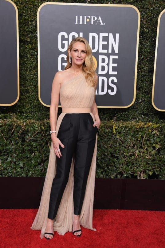 BEVERLY HILLS, CA - JANUARY 06: Julia Roberts attends the 76th Annual Golden Globe Awards at The Beverly Hilton Hotel on January 6, 2019 in Beverly Hills, California. (Photo by Steve Granitz/WireImage)
