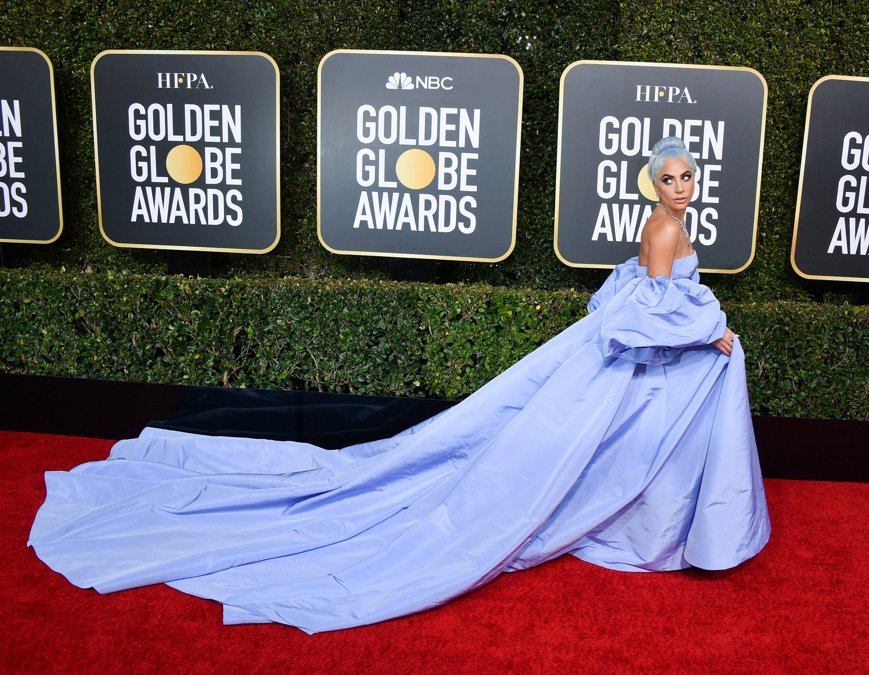 BEVERLY HILLS, CALIFORNIA - JANUARY 06: Lady Gaga attends the 76th Annual Golden Globe Awards held at The Beverly Hilton Hotel on January 06, 2019 in Beverly Hills, California. (Photo by George Pimentel/WireImage)