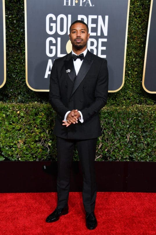 BEVERLY HILLS, CALIFORNIA - JANUARY 06: Michael B. Jordan attends the 76th Annual Golden Globe Awards held at The Beverly Hilton Hotel on January 06, 2019 in Beverly Hills, California. (Photo by George Pimentel/WireImage)