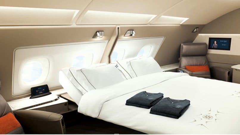 Singapore Airlines first class flight