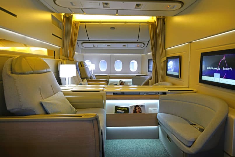 Air France first class flight
