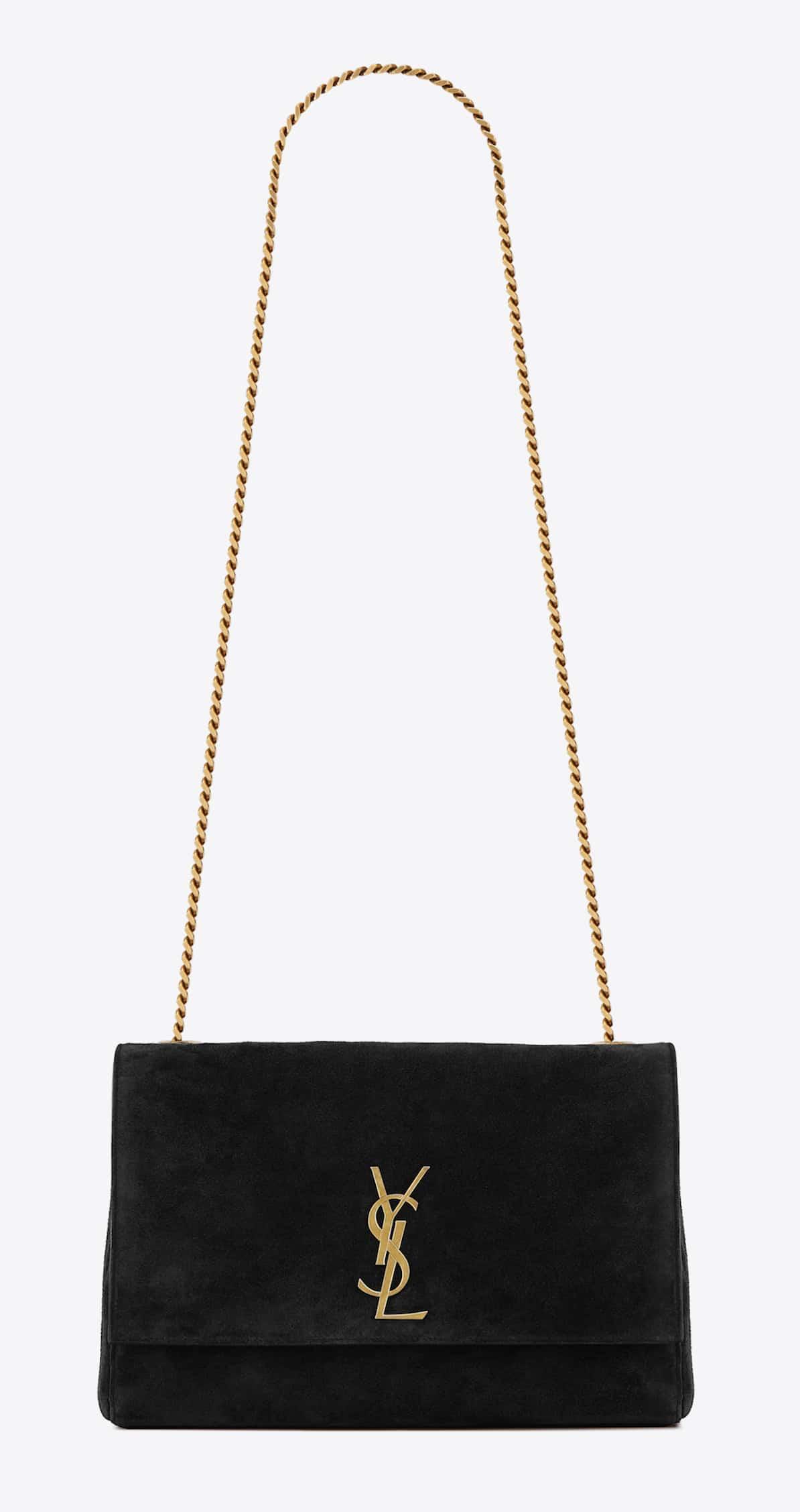 Medium Reversible Kate in Black Suede (HK$16,500)