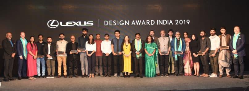 Line up of winners at Lexus Design Awards 2019. Image:Courtesy Lexus India