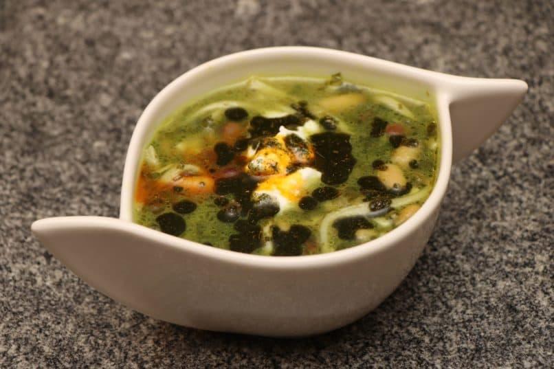 Ash Reshteh. Iranian soup at Setz restaurant, DLF Emporio, New Delhi