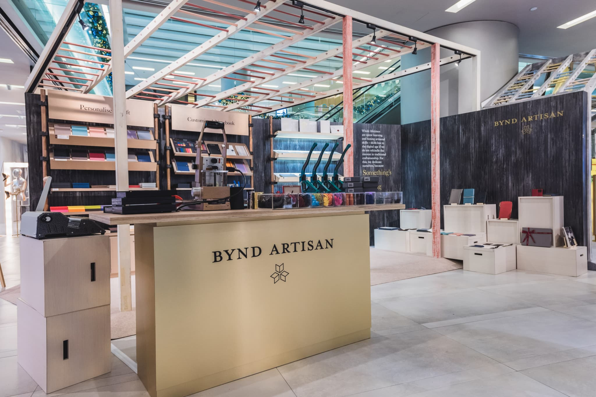 bynd artisan personalised leather goods singapore