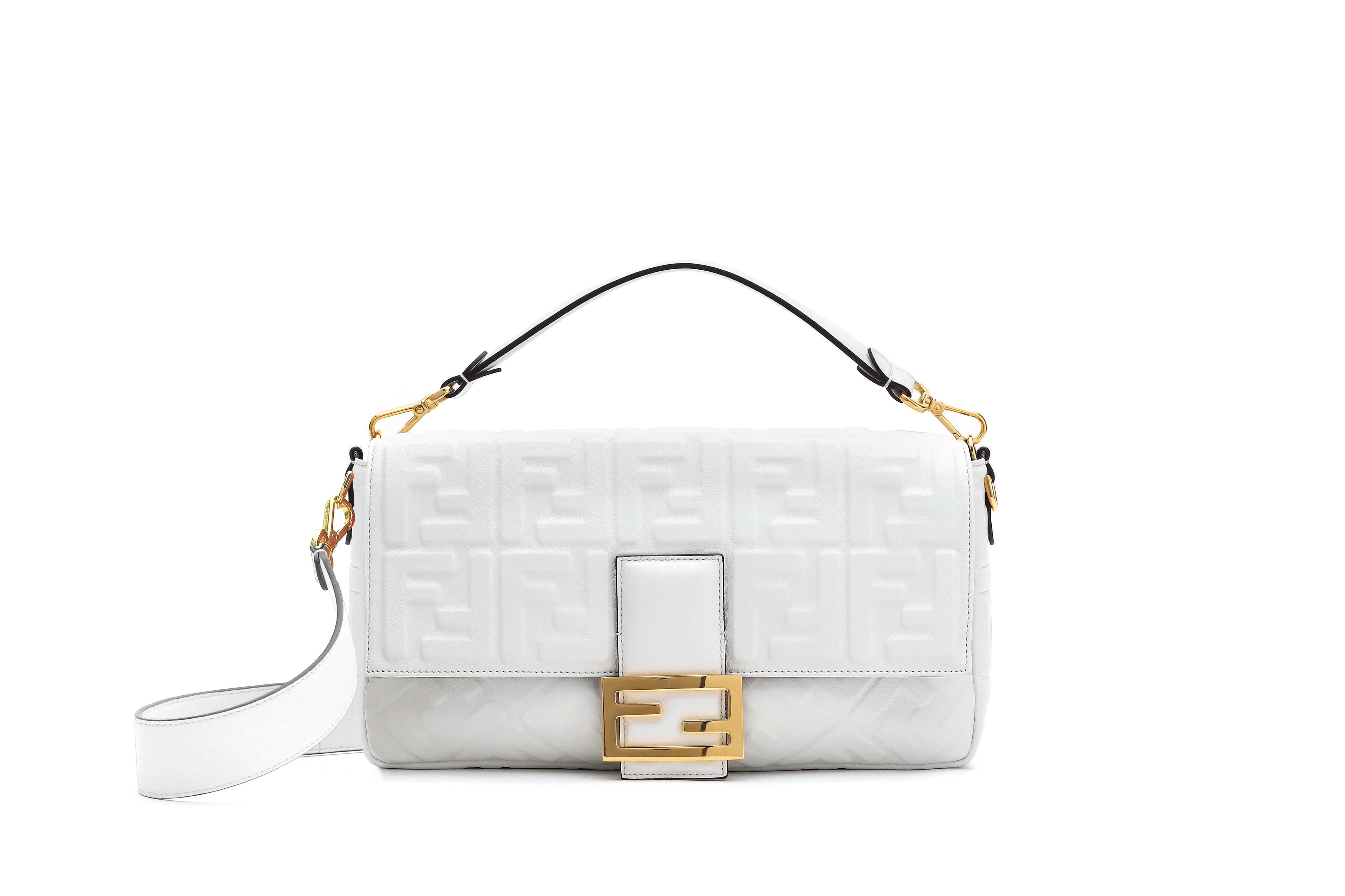 a75fef99cb68 Fendi s Baguette bag comes in two different sizes.