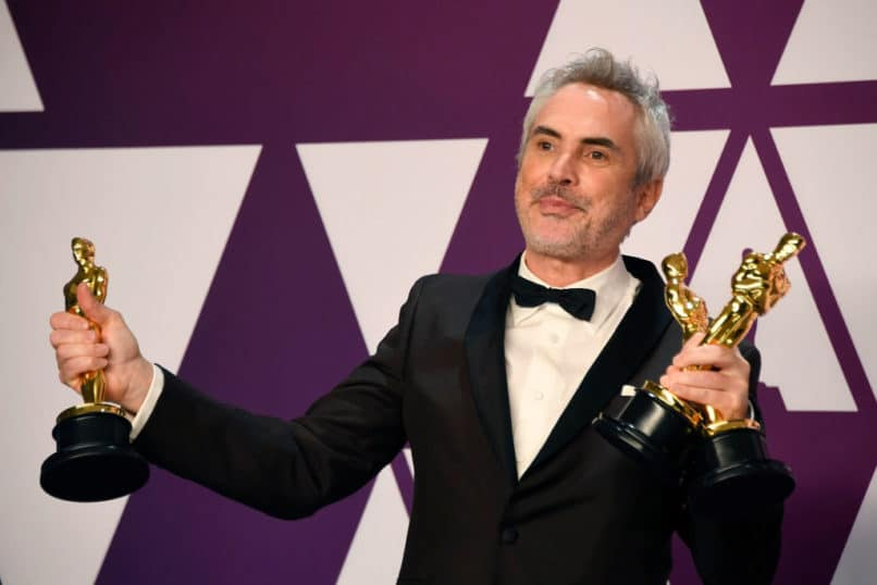 "Alfonso Cuaron, winner of Best Foreign Language Film, Best Director and Best Cinematography for ""Roma,"" poses in the press room during the 91st Annual Academy Awards at Hollywood and Highland on February 24, 2019 in Hollywood, California. (Photo by Frazer Harrison/Getty Images)"
