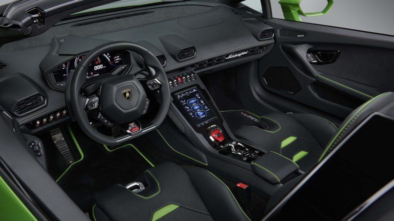 Lamborghini Huracán Evo Spyder's cabinLamborghini Huracán Evo Spyder's cabin