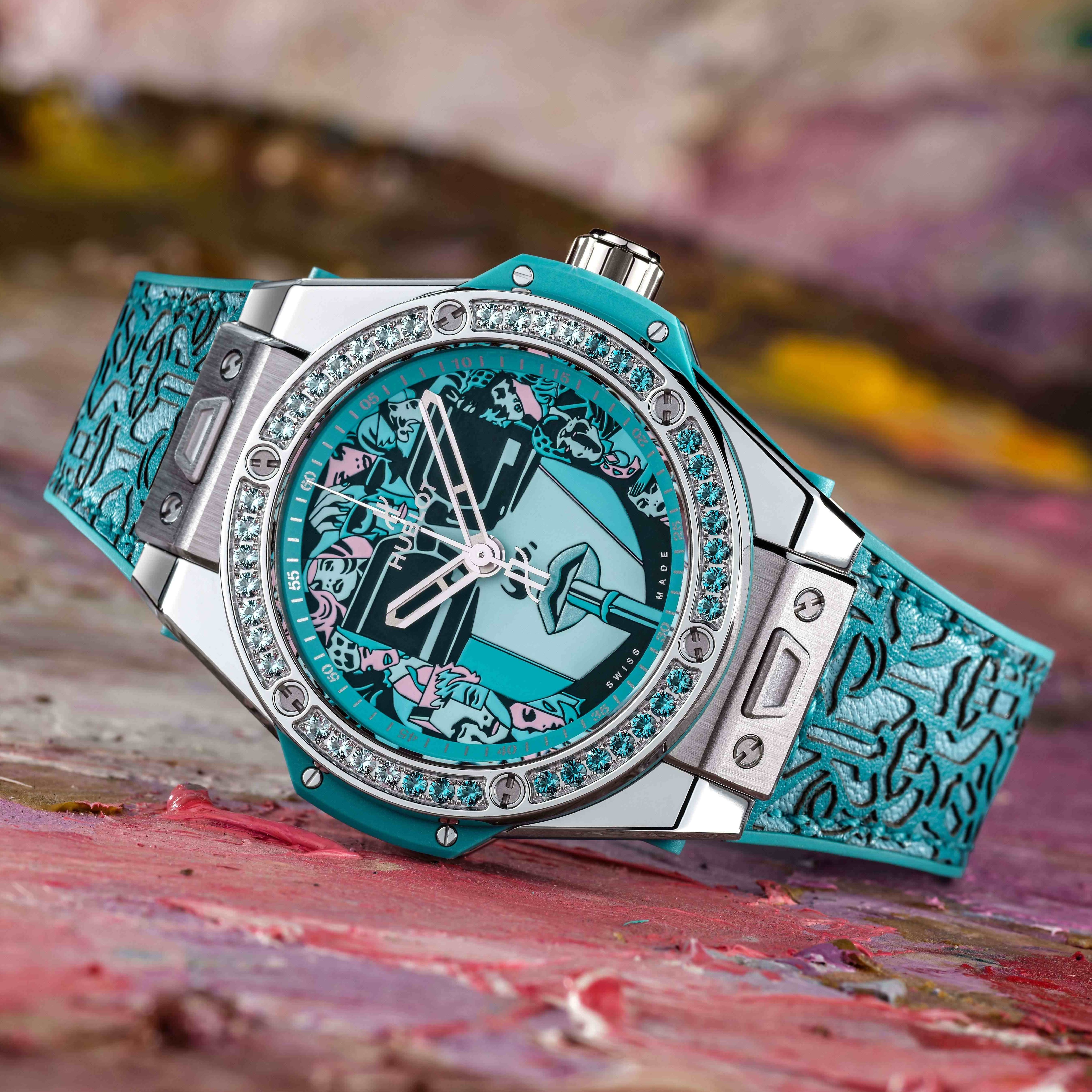 Hublot Big Bang One Click Marc Ferrero Steel Turquoise
