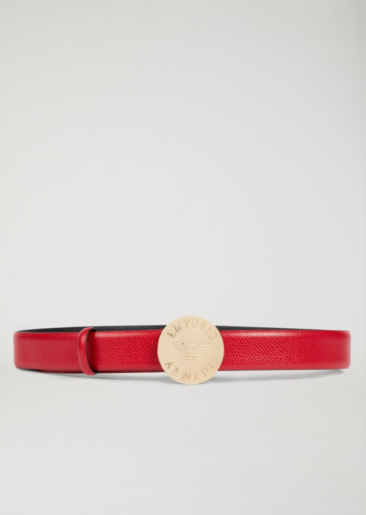 Armani Belt with Branded Medallion