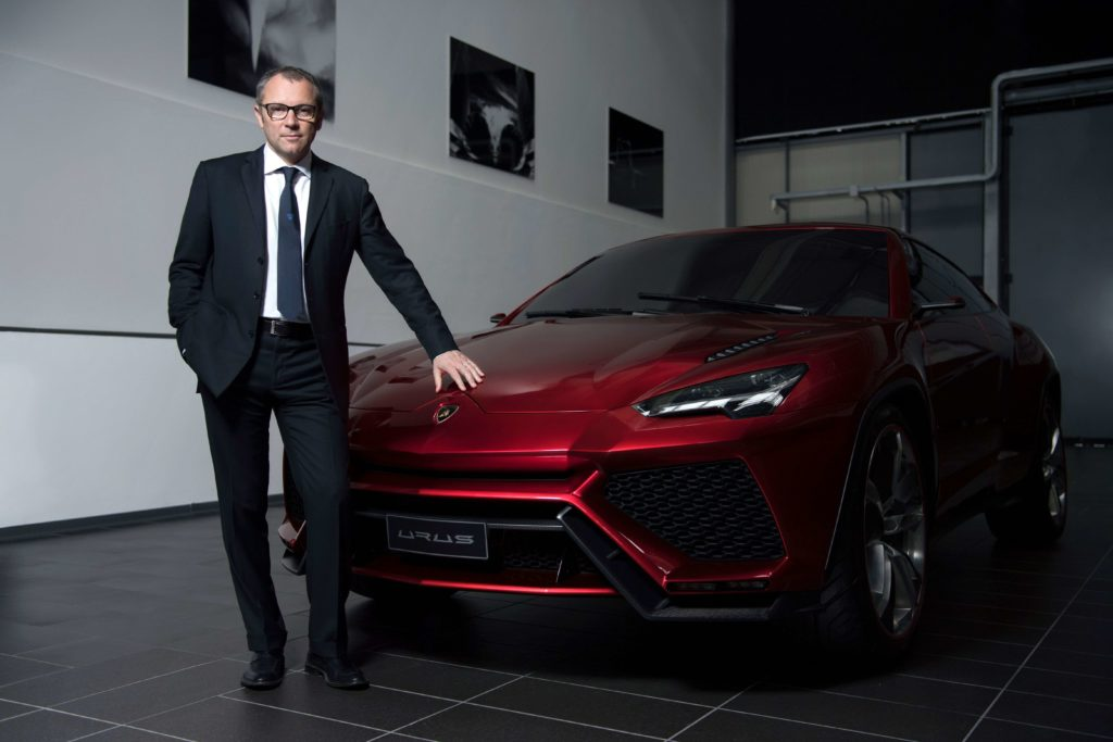 Stefano Domenicali with the Lamborghini Urus