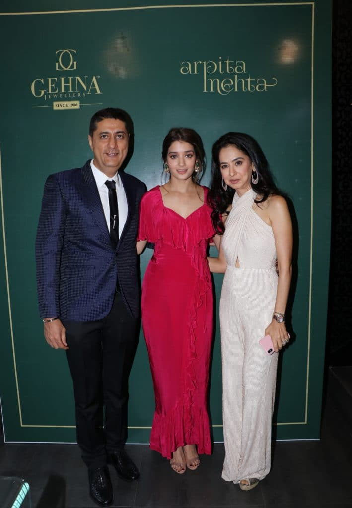 Sunil and Kiran Datwani of Gehna Jewellers with ace designer Arpita Mehta