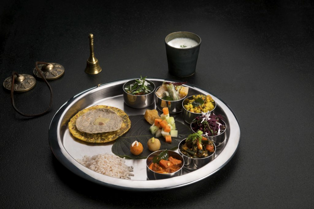 the Tridosha Thali, the most satisfying spa meal