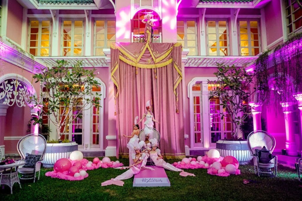 The set-up and the night unfolds at the Mad Mansion Party