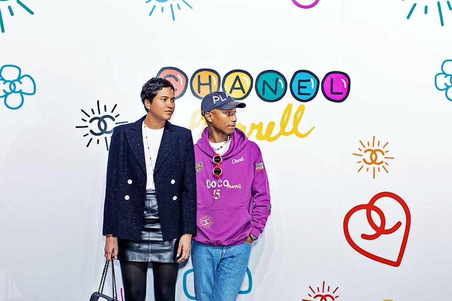 1c05d6def37fc Pharrell Williams officially debuts his much-anticipated Chanel ...
