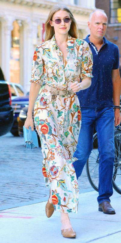 Gigi Hadid in Alberta Ferretti. Image: Courtesy Pinterest
