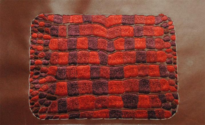 Red crocodile Hermes bag. Image: Courtesy Maximiliano Modesti