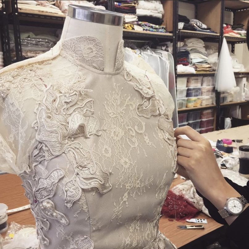A work in progress of a customised Cheongsam piece