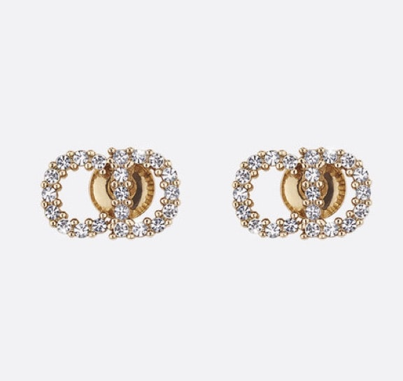 Stud Earrings: Dior