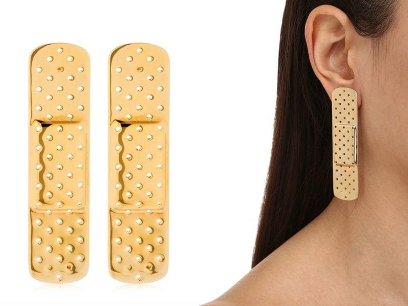 Plaster line earrings by Schield