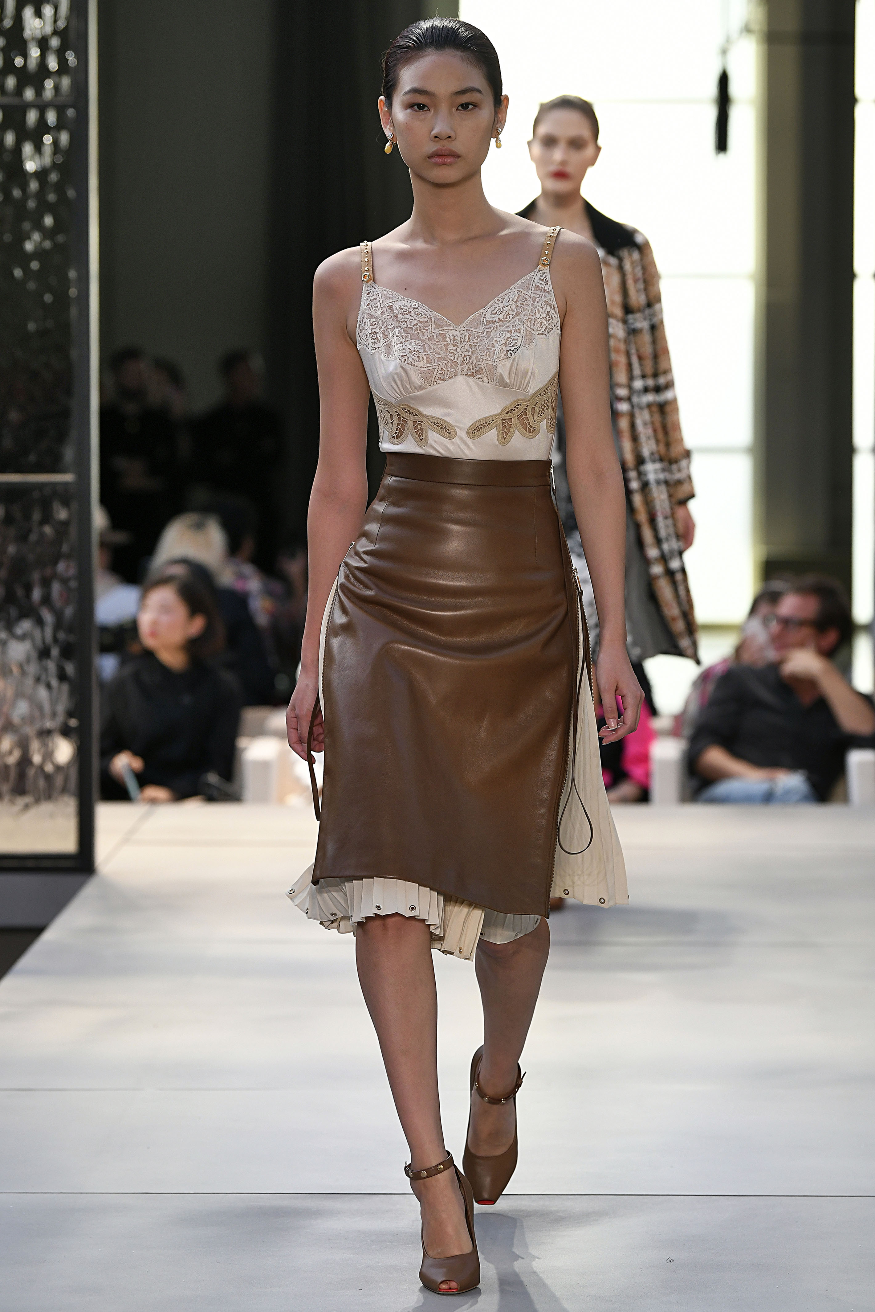 A model in Burberry. Image: Courtesy Getty