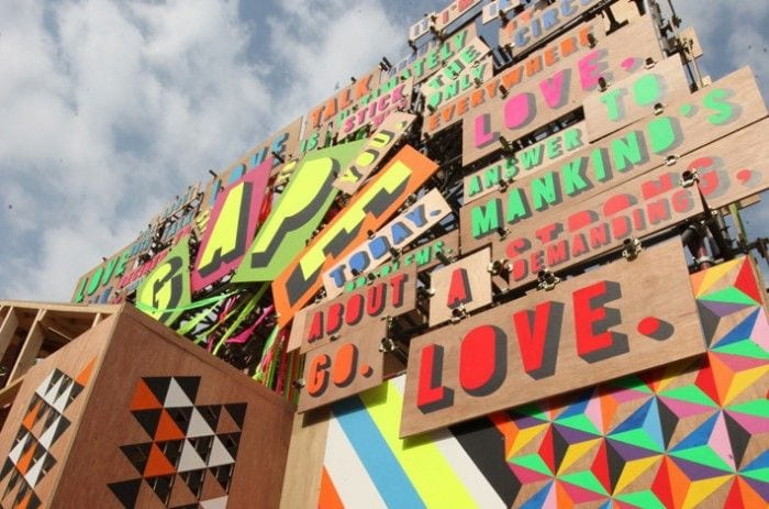 Temple of Agape in London. Image: Courtesy Morag Myerscough