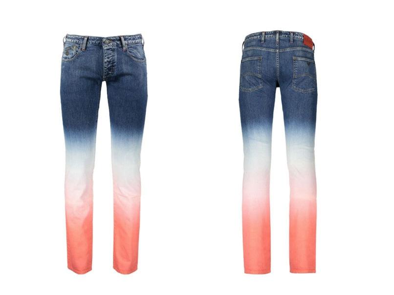 Ombré denim jeans