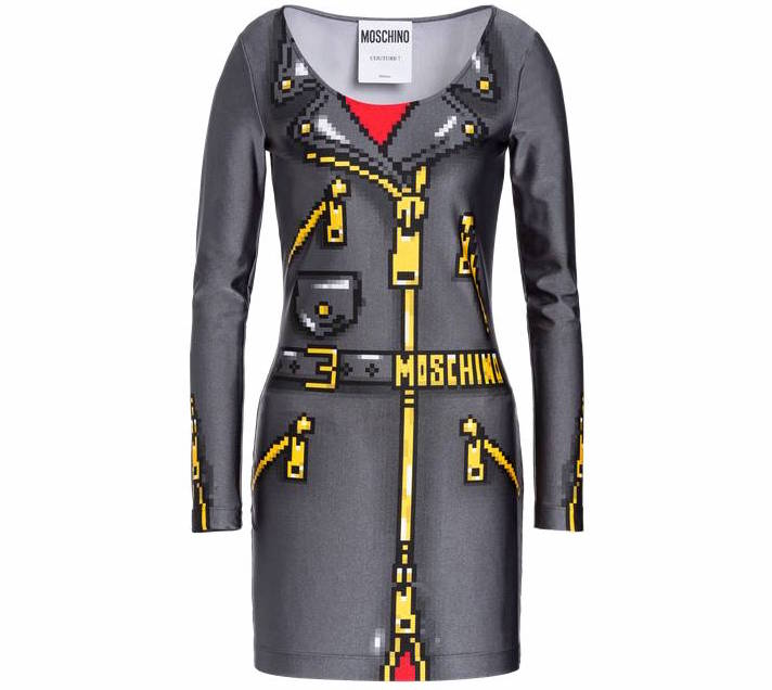 3f8c8d417b A Sims-inspired leather dress from the Moschino x The Sims capsule  collection.