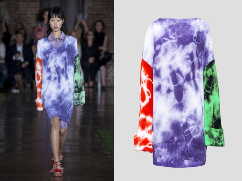 MSGM spring summer runway look and product image