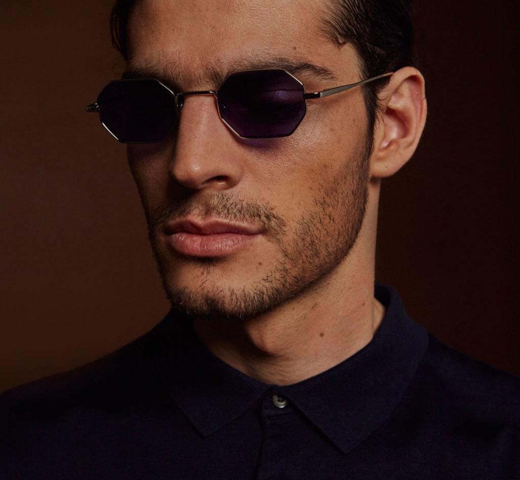 Hexogonal geometric sunglasses