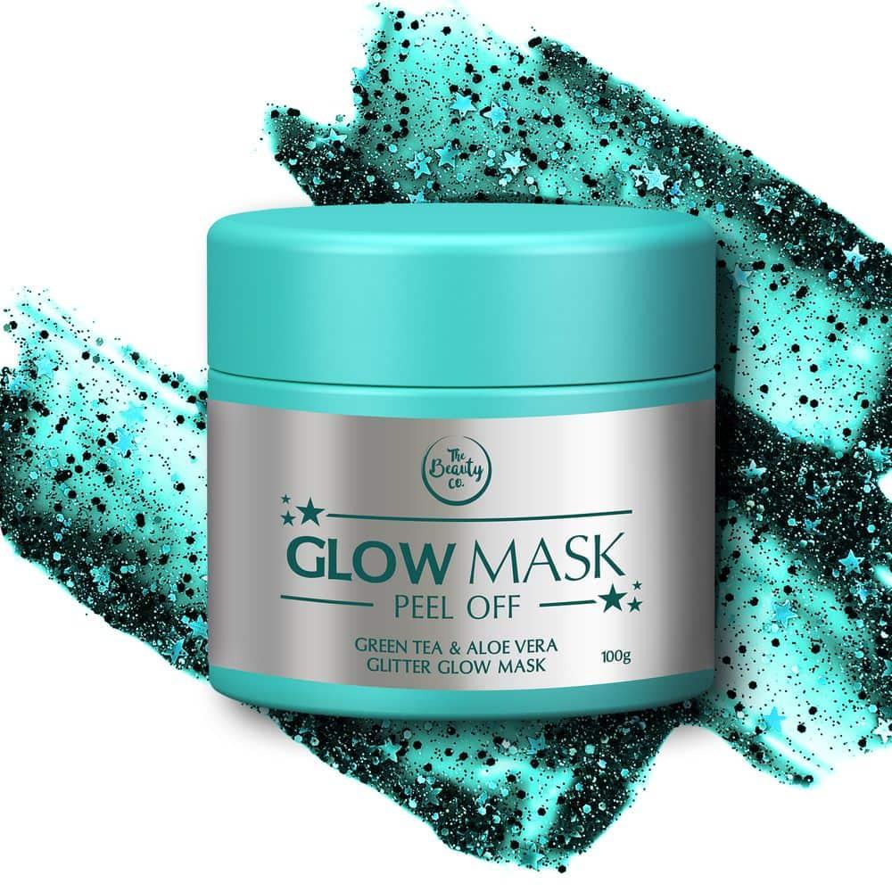 The Beauty Co Green Tea & Aloe Vera Glitter Mask