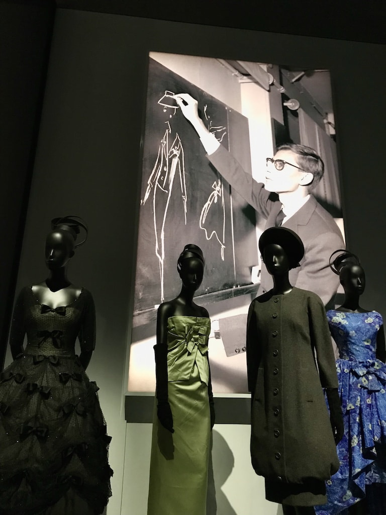 The Christian Dior Designer of Dreams Exhibition at the V&A. Yves Saint Laurent.