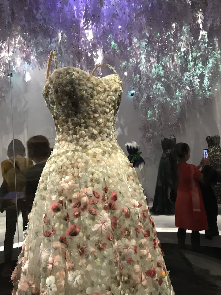 The Garden Room at The Christian Dior Designer of Dreams Exhibition at the V&A