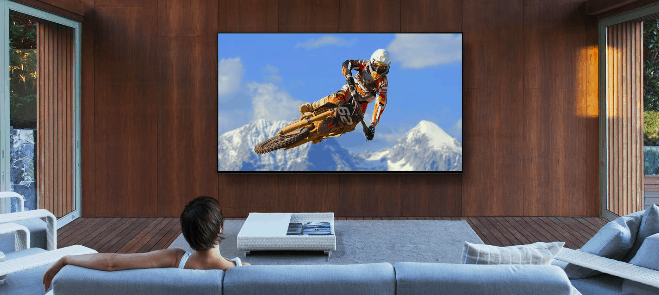 large widescreen TV