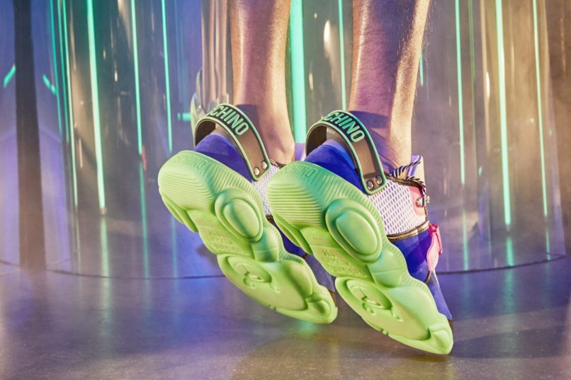 Moschino's Teddy Fluo Sneakers