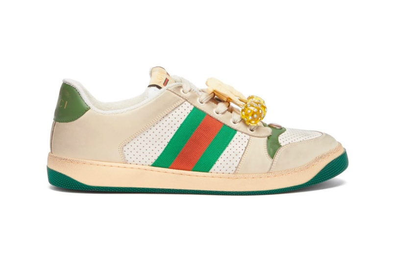 Gucci Cherry-Embellished Screener sneakers
